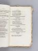 Almanach Royal, Muse Bordelaise, Etrennes aux Dames. Quatorzième Année de la Collection. Choix de Poésies Fugitives pour l'An 1827. DUPERIER DE ...
