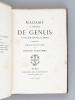 Madame la Comtesse de Genlis. Sa Vie, son Oeuvre, sa Mort (1746-1830) d'après des documents inédits par Honoré Bonhomme. BONHOMME, Honoré
