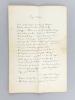 """[ Manuscrit autographe signé ] Page d'Histoire : [ Il évoque la mort du dauphin Louis puis continue ... ] """"Et le peuple affranchi déjà de son  tyran / ..."""