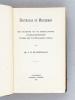 Balthasar de Moucheron. Een bladzidje uit de Nederlandscher Handelsgeschiedenis Tijdens den Tachtigjarigen oorlog [ Book signed by the author ]. ...
