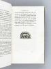 Le Palais de Scaurus, ou Description d'une Maison Romaine. Fragment d'une voyage fait à Rome vers la fin de la République, par Mérovir, Prince des ...