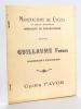 Manufacture de Cycles et pièces détachées Guillaume Frères Clermont-Ferrand. Spécialité de pneumatiques [ Cyvles FAVOR - Recueil de bons de commande ...