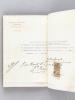 Livret recueillant les reçus manuscrits obtenus par Mme Veuve Henry Balaresque pour les travaux exécutés au Château de Francs à Bègles [ Avec un reçu ...