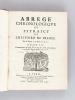 Abrégé chronologique ou Extraict de l'Histoire de France par le Sieur de Mezeray. Tome III : Commençant au Roy François II, & finissant à la fin du ...