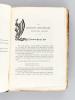 Bibliographie des Principales Editions Originales d'écrivains francais du XVe au XVIIIe siècle. Ouvrage contenant environ 300 fac-similés de titres ...