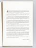 Dessins de Paris. Exposition de dessins organisée à l'Hôtel de Lamoignon sous le patronage de la Société des amis de la Bibliothèque Historique de la ...