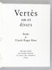 Vertès, un et divers [ Edition originale - Avec un dessin original signé de Marcel Vertès ] Etude de Claude Roger-Marx. ROGER-MARX, Claude ; VERTES, ...