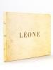 Leone [ Edition originale ] [ Exemplaire truffé avec une carte postale du Bassin d'Arcachon signée par Jean Cocteau et Jean Marais et une ...