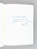 Paysages [ Livre dédicacé par l'auteur ] [ Avec : ] Lettre autographe signée de Camille Sautet à Michel Suffran, évoquant Henri Petit [ Avec : ]  ...