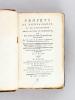 [ Recueil de brochures sur la Charité à Bordeaux ] [ Edition originale ] [ Contient notamment : ] Projet de Bienfaisance et de Patriotisme, pour la ...