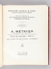 Manufacture d'Article de Marine. Fournitures Générales pour la Navigation. A. Métayer. Articles spéciaux pour la Construction, le Gréement, ...