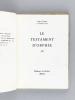 Le Testament d'Orphée. Film [ Livre dédicacé par l'auteur ]. COCTEAU, Jean