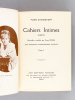 Cahiers intimes inédits de Marie Bashkirtseff (4 Tomes - Complet). BASHKIRTSEFF, Marie