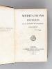 Méditations Poétiques [Avec : ] Nouvelles Méditations Poétiques [ Edition originale ] [ Avec : ] La Mort de Socrate, Poëme par A. de Lamartine [ ...