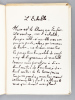 L'échelle de Jean Raine [ Edition originale - Exemplaire enrichi d'une exceptionnelle dédicace de l'auteur ]. RAINE, Jean