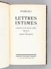 Lettres intimes.. DISRAELI, Benjamin