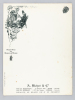 Menu vierge illustré par Hérouard au nom de la maison A. Bichot & Cie, Vins de Bourgogne, Vins de Bordeaux  [ 3 exemplaires ] Grands Vins des Hospices ...