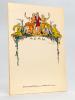 Menu dessiné par Joseph Hémard pour M. Schröder & Cie, Bordeaux [ 11 exemplaires ]. HEMARD, Joseph