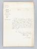 [ Dossier de 11 courriers manuscrits adressés à David Dietz, chef d'atelier : La Compagnie des Chemins de Fer de l'Est aux débuts de la Guerre ...