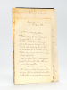 """[ Lot de 9 lettres autographes signée ] 1 LAS datée de Cannes le 31 Janvier 1883 : """"Tu serais bien gentil de demander pour moi, au fils de l'Amiral ..."""