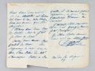 """Lettre autographe signée : """"Liège, Mardi. Mon Cher George, Je vous ai dit que sitôt que je verrai poindre quelque chose pour vous, je me hâterai de ..."""