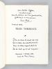 Trois Tombeaux. Max Jacob. Paul Valéry. Jean Cocteau [ Edition originale - Livre dédicacé par l'auteur ]. EMIE, Louis