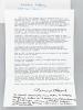 2 très belles lettres de Bernard Clavel évoquant la guerre du Golfe et son pacifisme : 1 L.A.S. signées de 2 pages adressées à l'écrivain bordelais ...