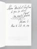 La rumeur d'Aquitaine. Des eaux, des arbres et puis des mots [ Livre dédicacé par l'auteur, avec une carte autographe signée ]. LACOUTURE, Jean ; LE ...