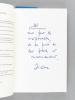 Bleus Horizons [ Avec 3 belles L.A.S. de l'auteur ] [Avec : ] Bleus Horizons [ Livres dédicacés par l'auteur ]. GARCIN, Jérôme