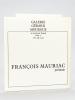 Galerie Gérard Mourgue. François Mauriac présente : Raymond Mirande. Emaux sur cuivre [ Avec une L.A.S. de Raymonde Mirande évoquant le texte de ...