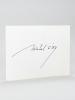 Michel Ciry. Huiles - Aquarelles - Gravures. Galerie Patrick Héraud [ Avec une belle lettre autographe signée de Michel Ciry ] Carton d'invitation au ...