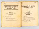 [ Renseignements techniques N° 4.05 A et 4.05 B ] : 4.05.1 : Bordeaux à Dax Mai 1960  [ Avec : ] Fascicule-Horaires N° 4.05 A Horaires. ...