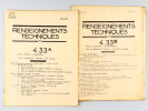 [ Renseignements techniques N° 4.33 A et 4.33 B ] : 4.33 A : Chemin de Jonction. Bordeaux Bastide à La Souys Mai 1960  [ Avec : ] 4.33 B Ceinture de ...