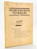 Renseignements techniques N° 4.43 A : 4.43.1 Tarbes à Dax. Mai 1960 [ Avec : ] Fascicule-Horaires N° 4.43.1 Horaires. Tarbes à Dax.  Service du 29 mai ...