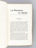 La Pharmacie en Egypte [ Edition originale - Livre dédicacé par l'auteur ]. GEORGIADES, Nicolas