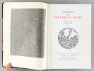 [ Catalogues N° 1, 2 et 3 - Nicolas Rauch ] N°1 : Catalogue de Très Beaux Livres. Des fleurs le fruit, Du fruit la fleur ; N° 2 : Livres Précieux et ...