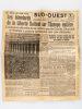 """Sud-Ouest. Grand quotidien républicain régional d'informations. Mercredi 9 Mai 1945 : """"Les étendards de la Liberté flottent sur l'Europe entière"""" [ ..."""