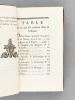 Oeuvres complètes de M. le Cte de Buffon. Tome Quatrième. Histoire des Animaux Quadrupèdes. BUFFON