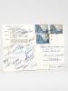 Carte Postale Equipe de France de Rugby en République Argentine 1960 [ Signée par 24 joueurs dont J. Rollet, R. Crancée, R. Brèthes, Martine, Pierre ...