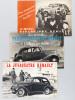 [ Lot de 3 brochure publicitaires Renault vers 1939 ] La Juvaquatre Renault. La voiture 4 places la plus économique et la plus agréable [ Avec : ] La ...