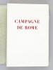 Campagne de Rome.. CHATEAUBRIAND ; (JOSSO, Camille P.)