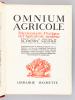 Omnium Agricole. Dictionnaire Pratique de l'Agriculture moderne.. SAGNIER, Henry