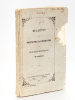 Bulletin de la Société pour la Conservation des Monuments historiques d'Alsace. Tome IV Livraison 1. Société pour la Conservation des Monuments ...