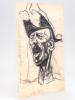 [ Portrait-charge - dessin original à l'encre ] Général André. LUQUE ; [ LUQUE DE SORIA, Manuel ]