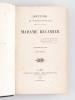 Souvenirs et Correspondance tirés des papiers de Madame Récamier (2 Tomes - Complet). RECAMIER, Madame
