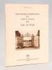 Anciennes demeures et vieux logis du Val d'Oise. NAUDE DES MOUTIS, J. P.