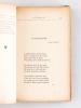 Vers le Soir [ Edition originale - Livre dédicacé par l'auteur ] Impressions et Souvenirs. Intermède. Petit Poème. Hommes et Choses. MERAT, Albert