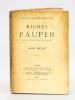 Michel Pauper [ Edition originale - Avec une L.A.S. de l'auteur ]. BECQUE, Henry