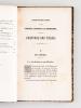 Considérations historiques et critiques sur les Vitraux anciens et modernes et sur la Peinture sur Verre [ Edition originale ]. THIBAUD, Emile