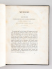Mémoire sur les Signes employés par les Anciens Egyptiens à la notation des divisions du Temps dans leurs trois systèmes d'écriture par M. Champollion ...